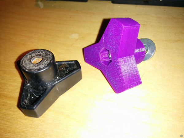 Tri-lobe equipment adjustment knob (parametric)