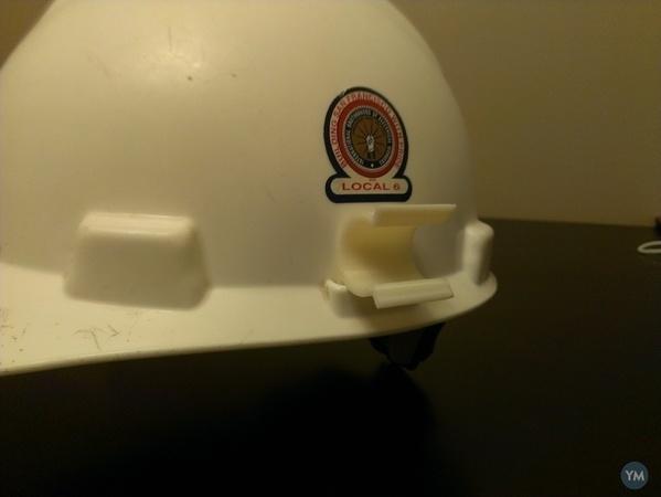 Hardhat Flashlight Clip