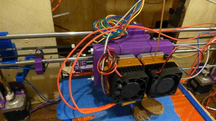 Mount Makergeeks/Makerbot Mk9 on Prusa i3