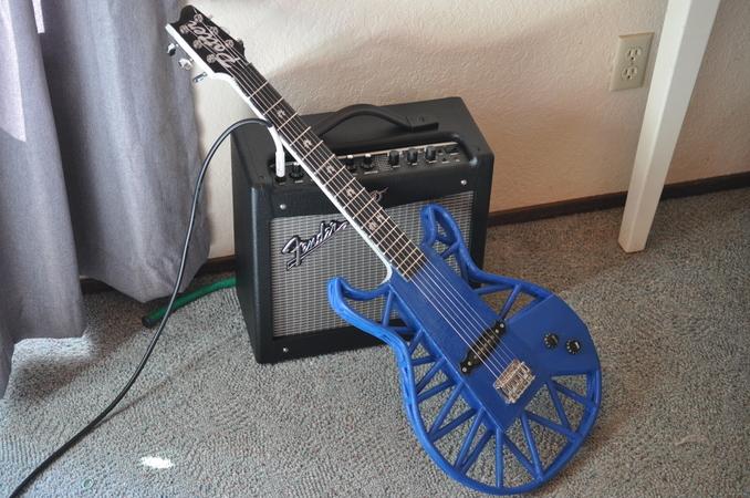 Fully 3d printed electric guitar