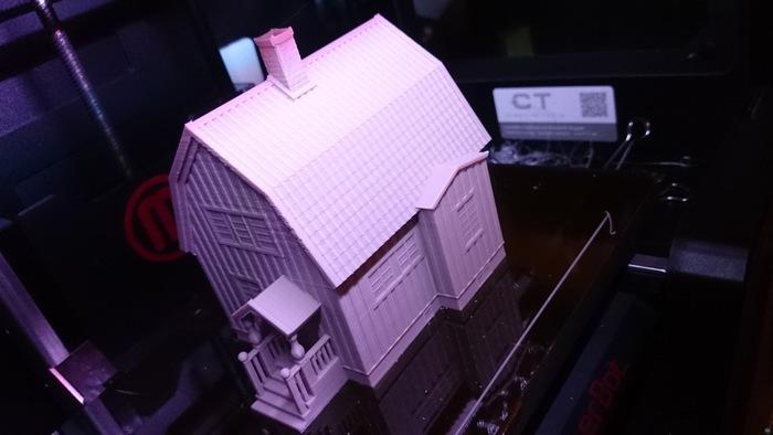 Swedish house, model (1:87, OpenRailway)