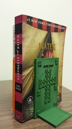 Book End with Celtic Cross Design