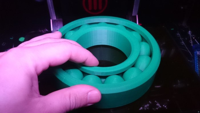 """Large """"Print-in-place"""" Ball Bearing (Ø145mm)"""