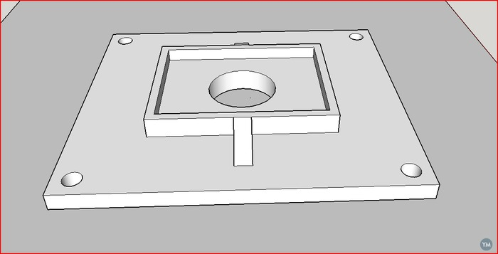 wire gromet to 3 inch cover plate