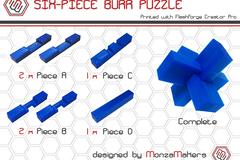 Six Piece Burr Puzzle