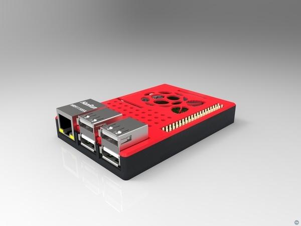 Raspberry Pi case (model B+ / 2 / 3)