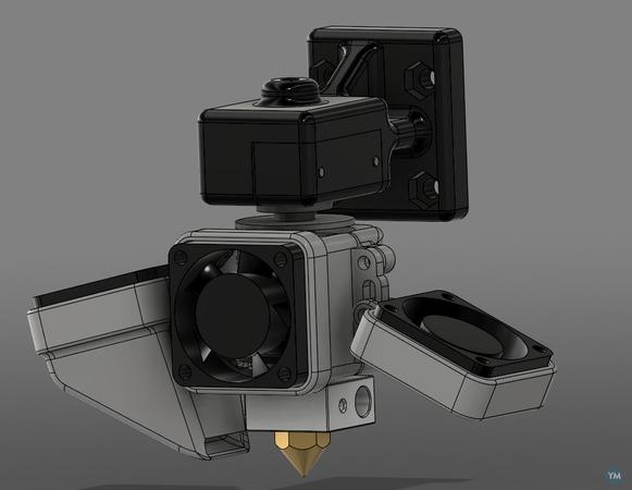 JD's - Bowden style mount bracket (Prusa I3 Rework)