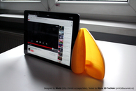 Carousel thumb sound amplifier for tablet
