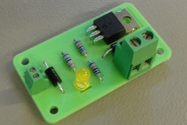 youmagine – ultimaker heated bed mosfet relay hack - v2 by jonathan bischof  – youmagine 🔧