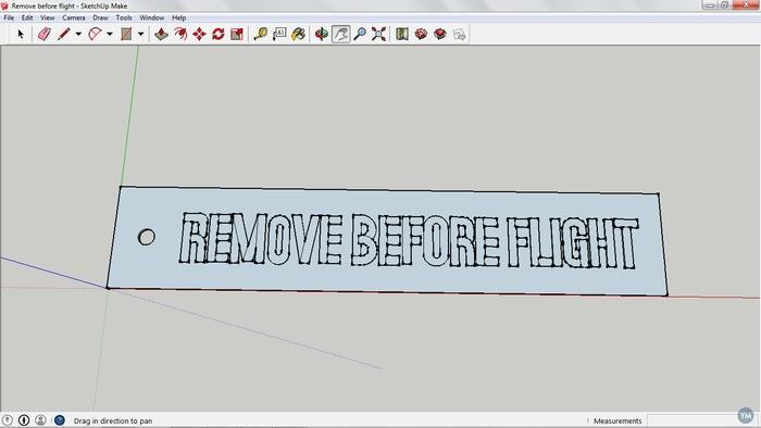 Remove before flight tag