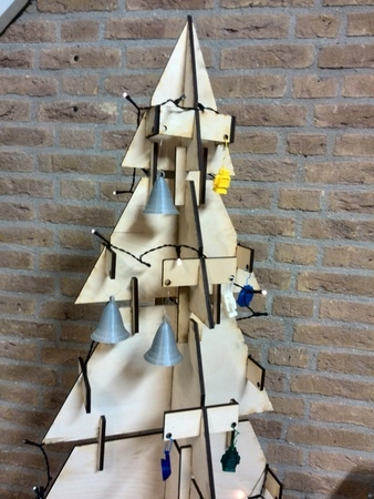 Christmas tree created with laser cutter