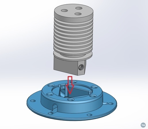 Rostock Effector Adapter for Tri hotend