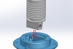 Tri Hotend Into Adapter Plate