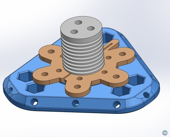 Tri Hotend Flexible Groove Mount Clamp