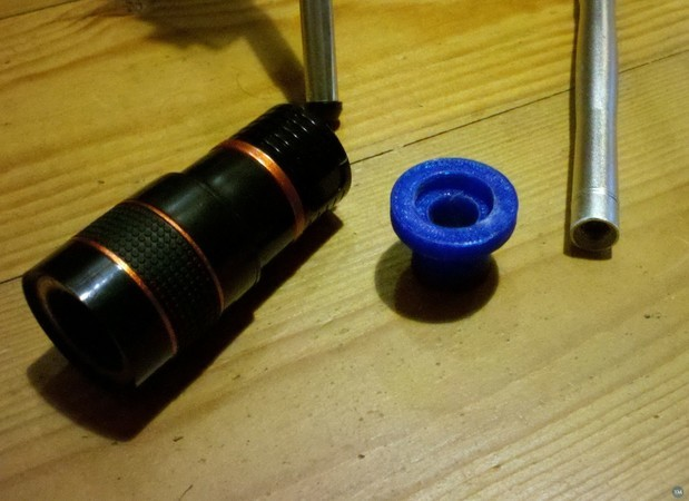CNC Microscope Tele adapter holder