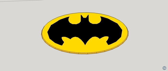 LOW POLY BATMAN SIGN