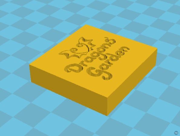 Dragons' Garden Logo - Stamp mold 1