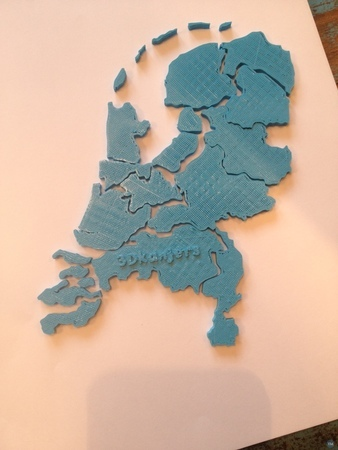 Province Puzzle of the Netherlands in 3D