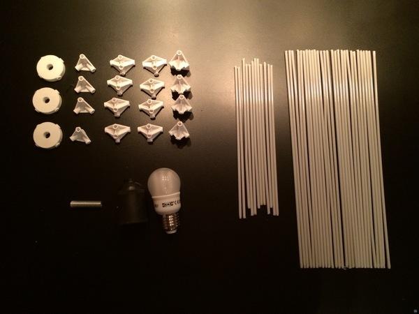 Japanese ricepaper lamp