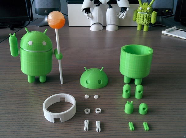 Posable Android Robot