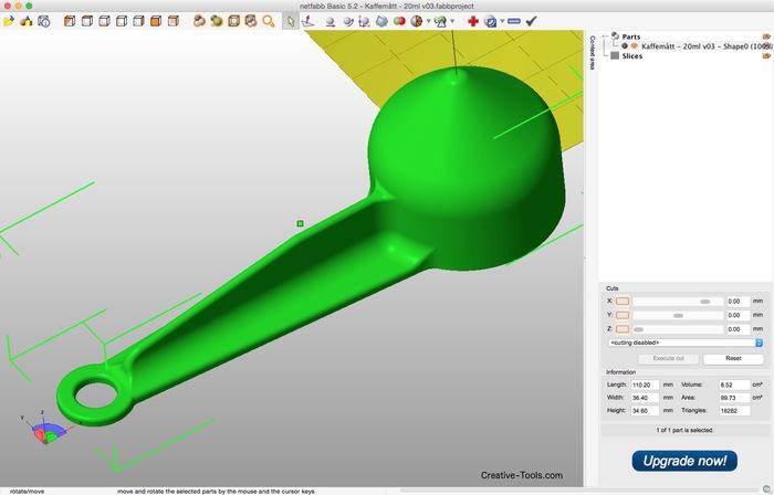 3D-printable coffee scoop (20 ml)