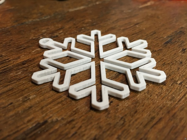 Snowflake Christmas decoration