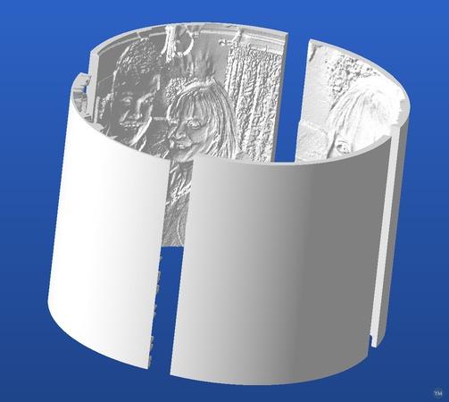 Curved Lithophanes