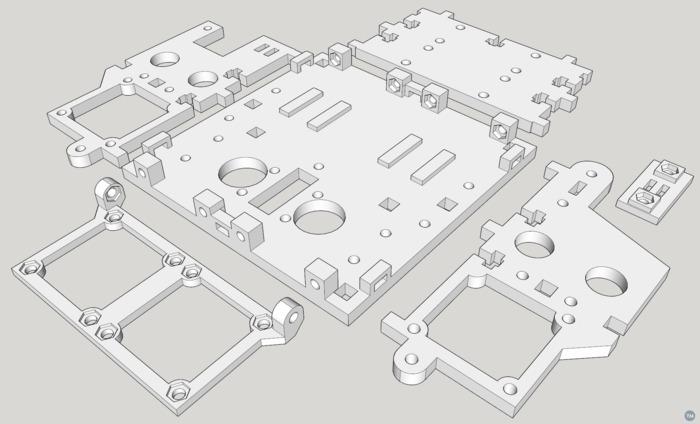 PrintrBot Plus 2.1 Dual Alu Extruder