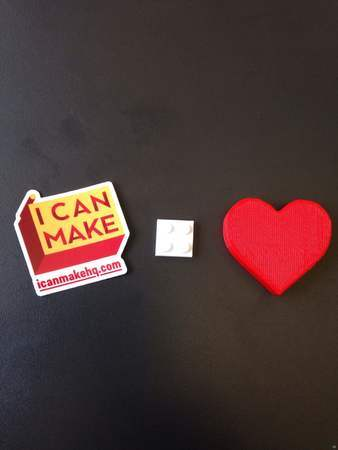 Parts for a three dimensional Valentine's card