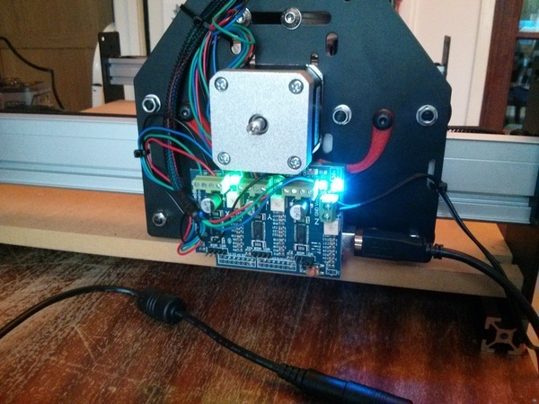 Gratuitously curvaceous Shapeoko electronic mount