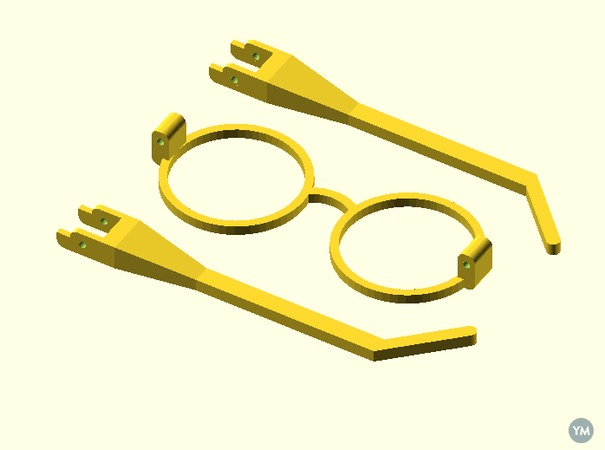 Scalable Harry Potter Glasses (with hinges)