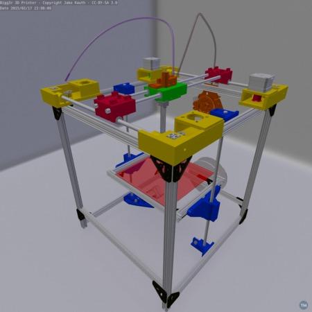Bigg3r - (pronounced Bigger) 3D Printer