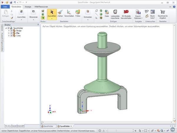 SpoolHolder for Printrbot Simple