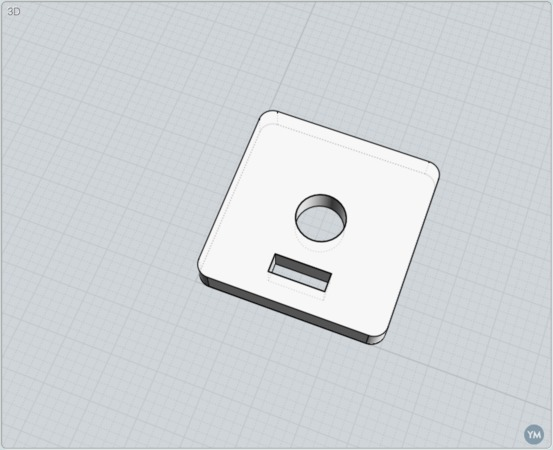 Screw-on with slit for belt - Ratrig and Openbuilds V-slot