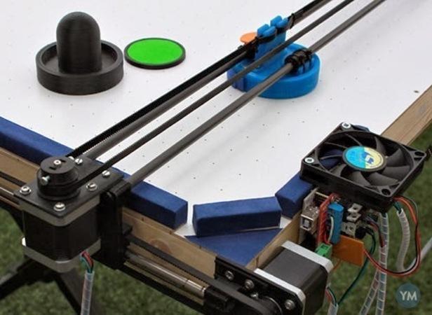 Air Hockey Robot (an OPEN SOURCE 3D printer hack)