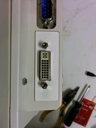Amiga 1200 DVI trapdoor back plate