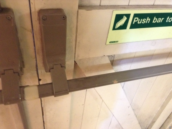 Fire Exit Barrier Replacement Wedge