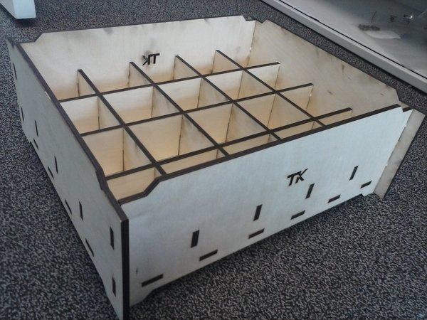 Parametric laser cut Sorting box
