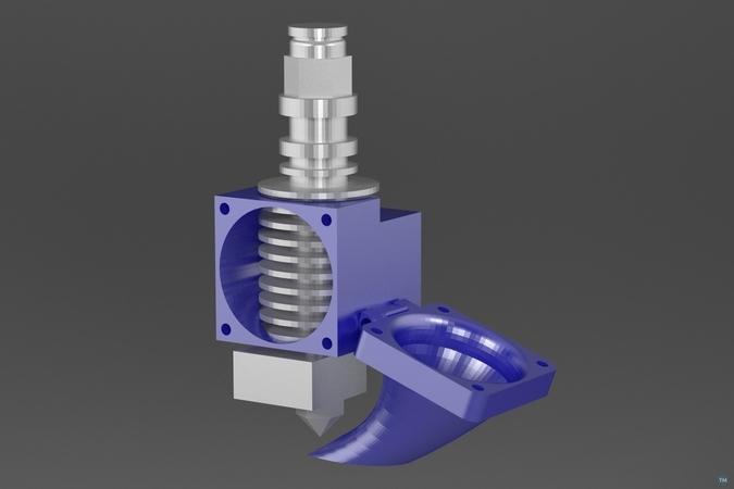 E3D V5 double fan mount