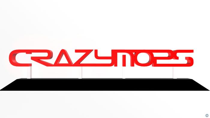"""Crazymops"" Logotype stand"