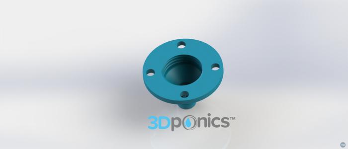 4-Hole Drip Nozzle 3/4 Inch - 3Dponics Drip Hydroponics