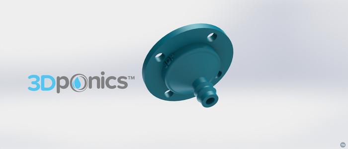 4-Hole Drip Nozzle 3/8 Inch - 3Dponics Drip Hydroponics