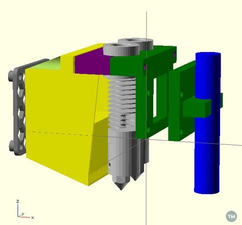 Dual hotend for Smartcore - picohotend v.2