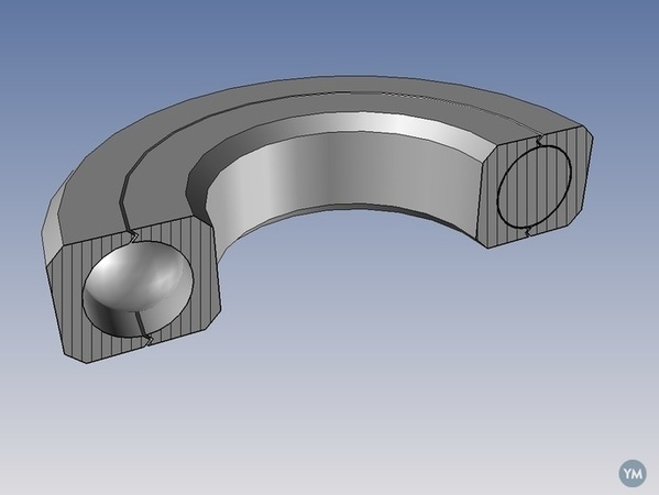 Print-In-Place sealed ball bearing