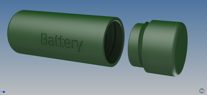 18650 e-cig battery case