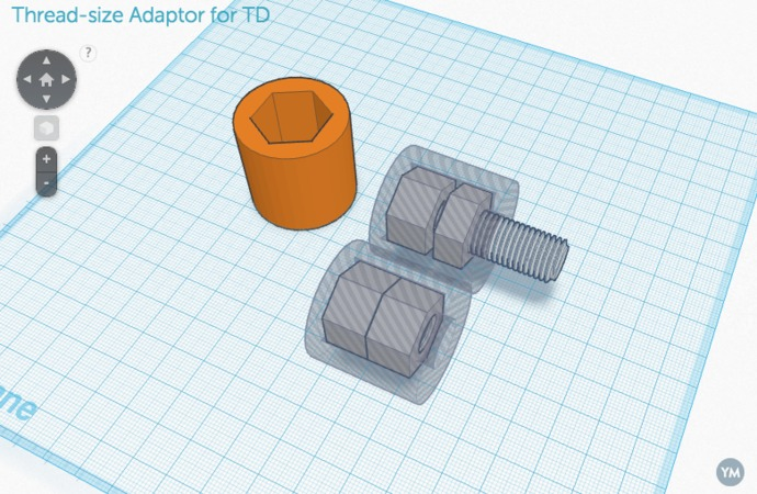 Thread-size Adaptor for TD