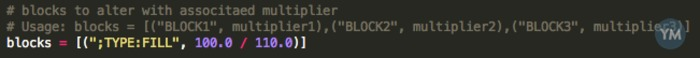 """Independently edit E values for """";TYPE:"""" blocks in Cura generated G Code"""