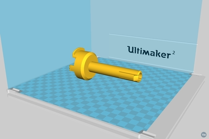 Ultimaker2 small spool holder (19mm hole)