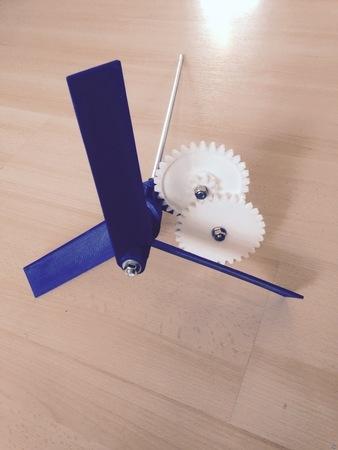 Geared windmill drive