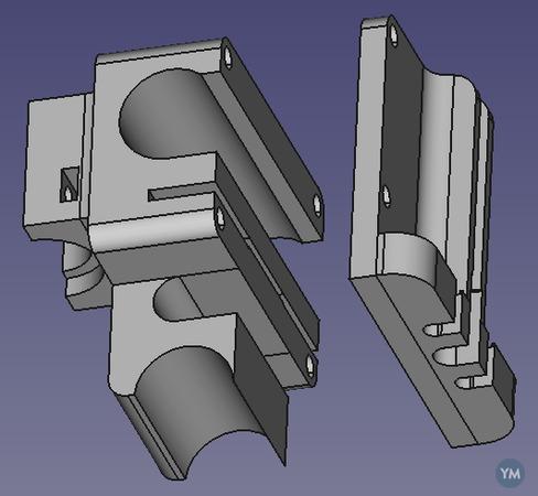 E3D v6 hotend mount Prusa i2 RepRapPro